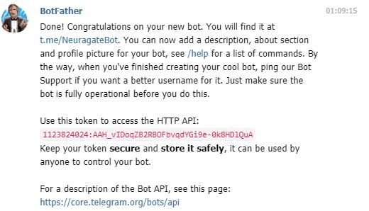 Bot telegram neuragate