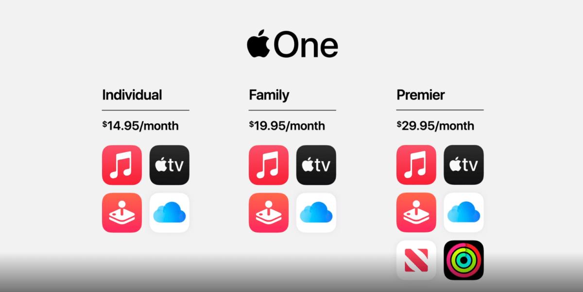 Evento Apple, Apple One